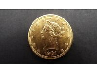 1901 $10 Gold coin USA Liberty Head Great Condition ,