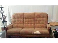 Fabric 3 seater sofa