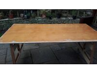 TRESTLE TABLE HEAVY SOLID WOOD