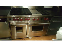 """WOLF 48"""" PROFESSIONAL GAS RANGE STOVE, 2 OVENS,6 BURNERS + Hot Plate"""