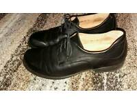 Mens black leather wide fitting Think shoes retail over £200