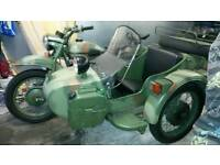 Ural Gearup military side car combination