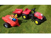 Kids Ride on Tractor and Trailers