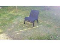 Ikea Nolmyra Armchair / outdoor garden chair, black, £10