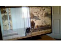 """Good condition Samsung 42"""" TV with full package and Hitachi 50"""" smart full HD tv for sale."""