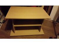 Light wood table/ tv stand unit/ gaming unit/ storage