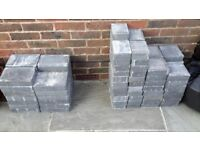 Edging blocks. Quantity 100. Unused blue-grey. 3 sizes. Collection only.