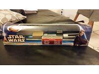 Star Wars original box, un-used Light saber, Attack of the Clones
