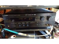 Yamaha RXV 596 RDS 5.1 Receiver Black with Programmable Yamaha remote & Original Manual