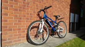 "MOUNTAIN BIKE Apollo Radar 14""frame 26""wheels full suspension 18 gear HARDLY Used, perfect condition"