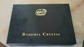2X Bohemia crystal brandy glasses in box and never used.