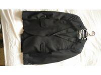 Topman Black Slim Suit 40R