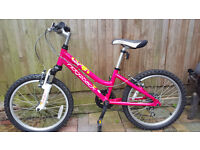 Ridgeback bike in pink bright colour in good condition. 6 gears