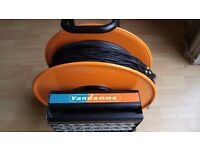 Van Damme 22 core cable on drum and stage box