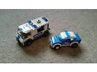 LEGO Police car and prisoner transport can