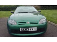 MG TF soft top British Racing Green