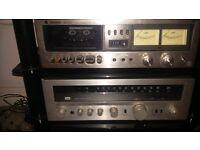 sansui amp technics deck 630