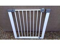 Metal Stair Gate White