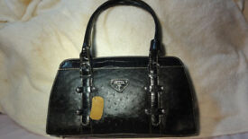 Brand New Prada Handbag Black Leather with Cover