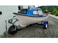 Fishing boat 5hp yamaha outboard trailer