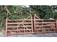 Wooden ranch gates