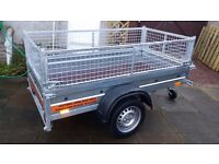 NEW Car trailers and mesch 6' x 4' 2,25 PRICE £580 inc vat spare wheel free