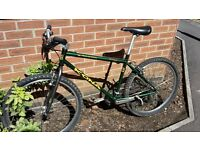 Retro Kona Lava Dome (medium, 18 inch) steel mtb hybrid bike, p2 forks (project two 2 fork)