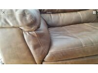 Large two seat dark brown leather sofa in great condition.