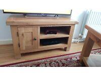 Devon Oak Small TV Unit with Coffee Table