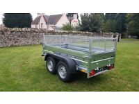 New trailer 8.7 x 4.2 twin axle with mesh and braked 2700kg £ 1900 inc vat