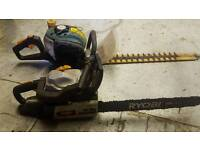 Petrol Chainsaw a hedgecutter