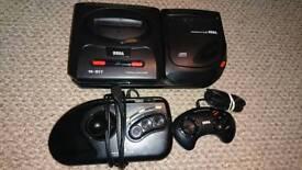 Mega Drive & Mega CD II Console Arcade Stick & Pad