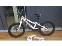 """16"""" girls bike from evans bought last December in good condition"""