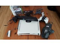 Xbox 360 White with games, Kinect, 2 x hard drives and wireless adapter