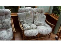 Cane Conservatory/Summer House sofa & chair set - DELIVERY AVAILABLE