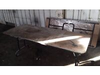 Folding Tables for Car Boot Sales or Work Bench 0.60x2.20m