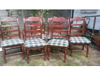 Mahogany Extendable Dining Table x 6 Chairs