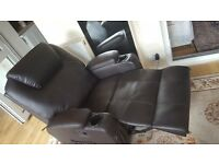 Massage leather armchair