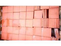 """6"""" Square terracotta floor tiles"""