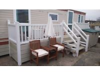 FOR SALE - LOVELY 2 BEDROOM, 6 BERTH STATIC CARAVAN WITH DECKING & SKIRTING SITED IN CAISTER ON SEA