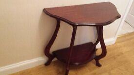 Dark Wood Hall Table