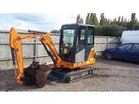Hanix H22B Mini Digger 2.2 tonnes. One owner, Best available no vat