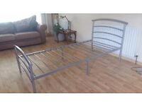 Single metal bed in excellent condition . Delivery can be arranged if required.