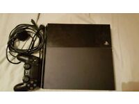 PS4 500 gb w/ controller & cables