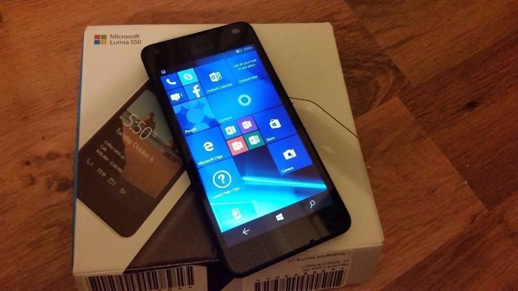 """MICROSOFT LUMIA 550,UNLOCKEDNEWin Leytonstone, LondonGumtree - Microsoft Lumia 550 Windows 10 phone New condition Black colour unlocked, works on any network with box 4.7"""" Screen, 5MP CAM, 1GB RAM All my items can be picked up in Leytonstone. Im located right on Leytonstone High road not far from the tube..."""