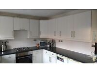 Full Kitchen. Including base units, wall units, gas hob, electric fan oven, sink and taps.