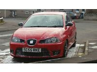seat cupra ibiza turbo running 250+bhp 2006 model. only 79k bargain swap swap swap.