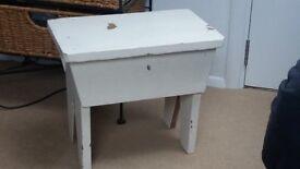 Cute storage, sewing box, foot stool
