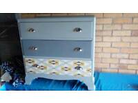 Vintage wood Chest of drawers made in 50s