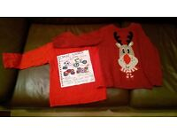 Christmas Jumper and Christmas Long Sleeve Top. Age 4 - 5. £4 for both